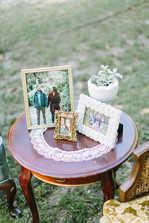 wedding picture frame decor