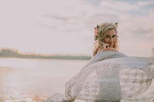 outdoor bridal portraits