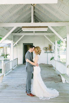 bride and groom portraits breezeway
