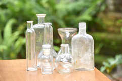 clear glass centerpieces inventory