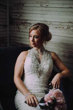 bridal portraits indoors