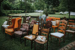 eclectic chairs for wedding ceremony