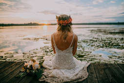 Bridal Portraits with Lake