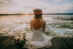 Bridal Portraits with Lake