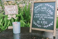 guest quilt quest book wedding