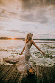 Lake Wedding Portraits