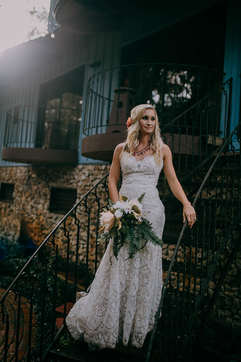 staircase wedding portraits