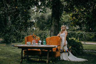 greenery bridal pictures