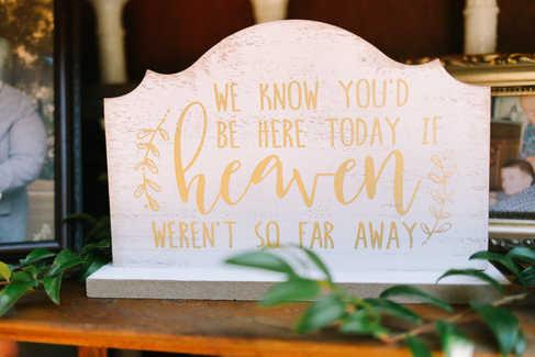 in memory of lost family member at wedding