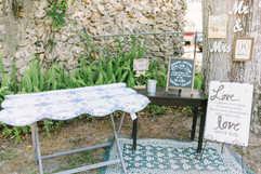 guest quilt table, quest book