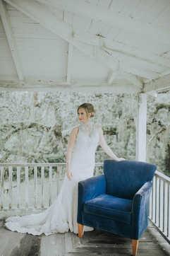 wrap around porch wedding portraits