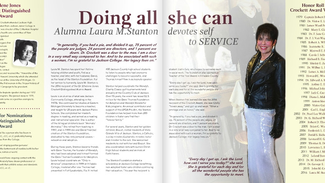 Doing all she can - Jackson College alumna devotes self to service