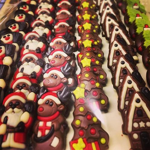 Milk Chocolate Christmas Reliefs