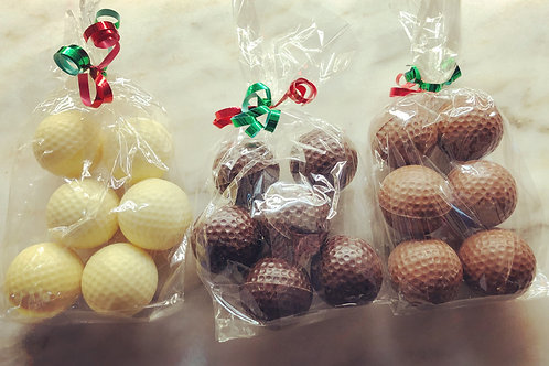 Chocolate Golf Balls Gift Bag