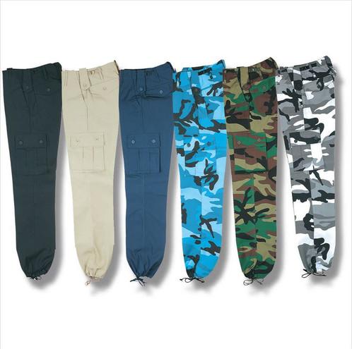Kids Combat Trousers Midnight Blue Camo   gibob