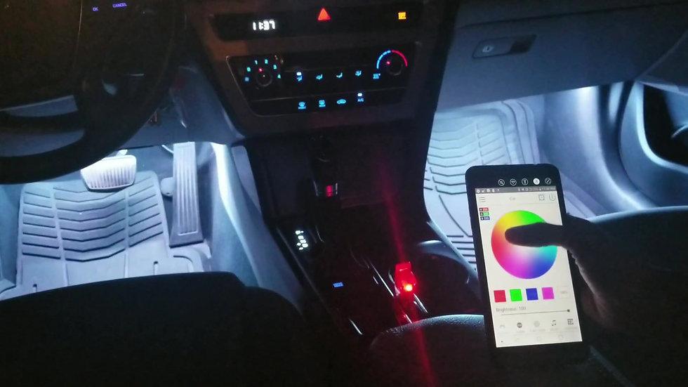 Multi-Color RGB Bluetooth LED Interior Kit