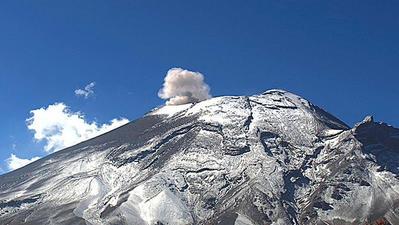 L'éruption du Popocatepetl en live 24h/24, est un volcan du Mexique situé à 70 kilomètres au sud-est de Mexico.. Cliquez sur la photo pour lancer le live..