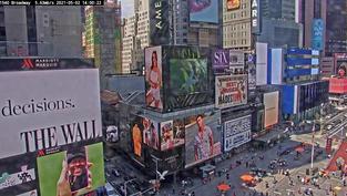 Une vue en live sur Times Square à New York.. Cliquez sur la photo pour lancer le live..