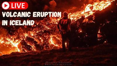 L'éruption du volcan islandais en live situé dans la péninsule de Reykjanes. Cliquez sur la photo pour lancer le live..