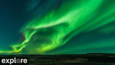 Le ciel Nord canadien pour avoir l'opportunité d'observer une aurore boréale.. Cliquez sur la photo pour lancer le live..