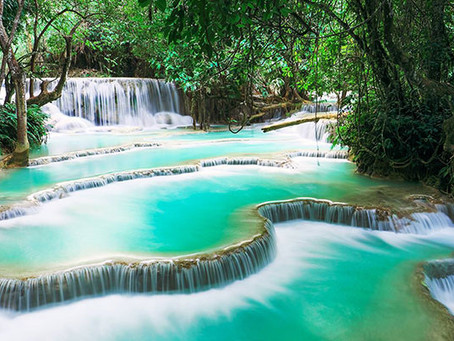 Les chutes tropicales de Kuang Si
