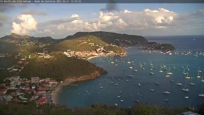 Belle vue de Saint Barth en Live 24h.. Cliquez sur la photo pour lancer le live..