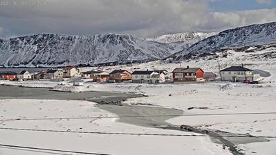 Skarsvåg, le village de pêcheur en Norvège le plus au Nord du monde. Cliquez sur la photo pour lancer le live..