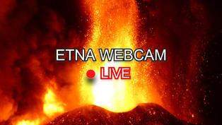 Le volcan italien de l'Etna en live 24h/24 situé en Sicile.. Cliquez sur la photo pour lancer le live..