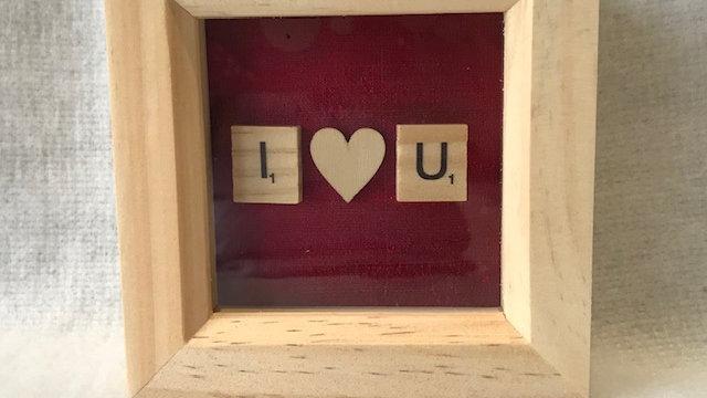 I love U, 10cm sq