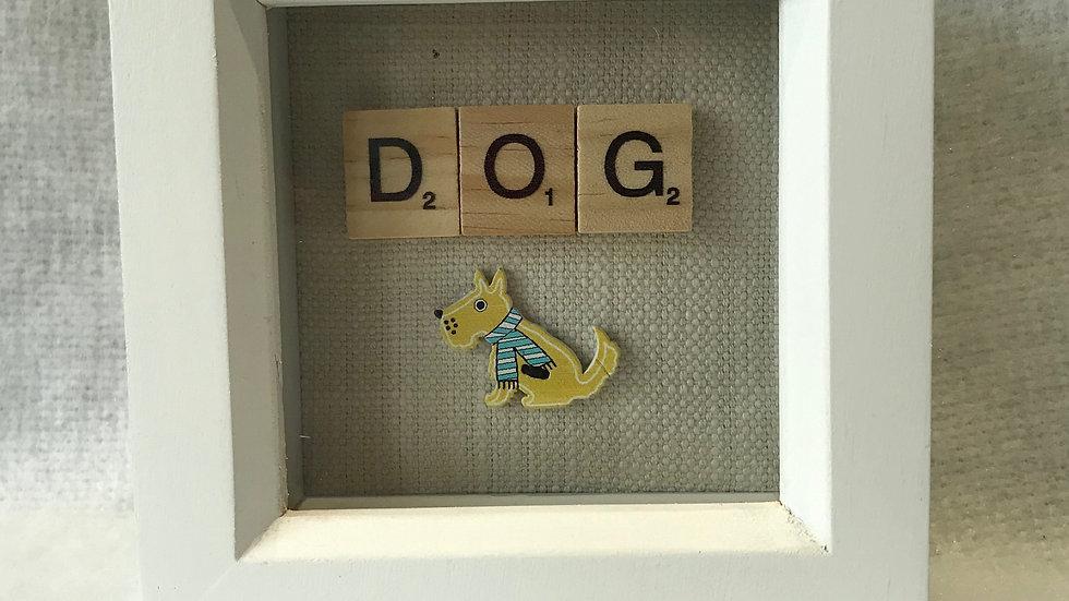 Dog, 10cm sq