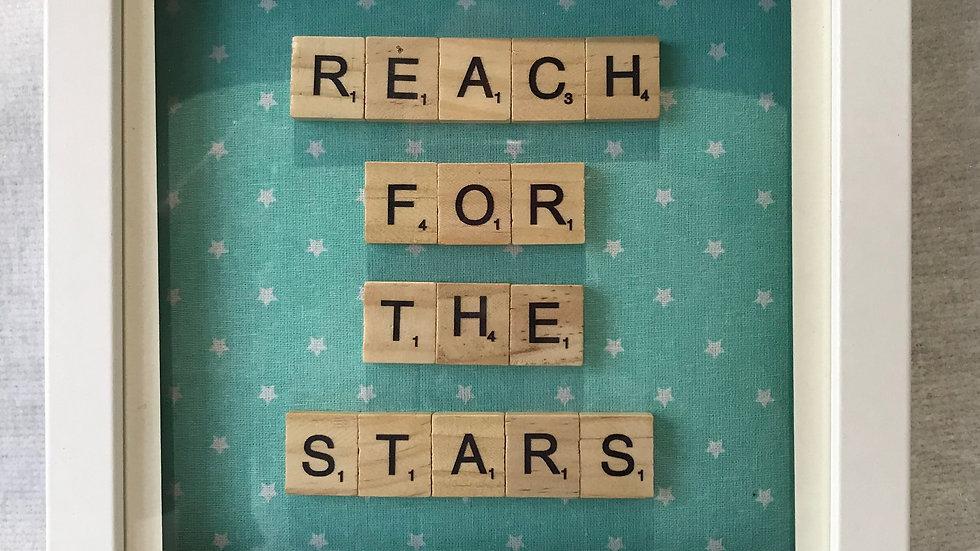 Reach for the stars, 20cm sq
