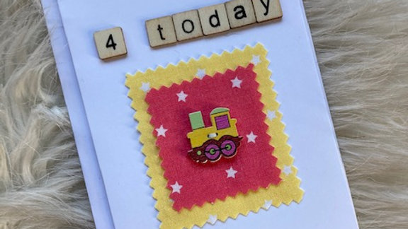 Birthday Card, 4 Today 15cm by 10cm