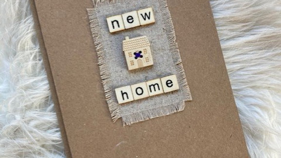 New Home card, 17.5cm by 12.5cm