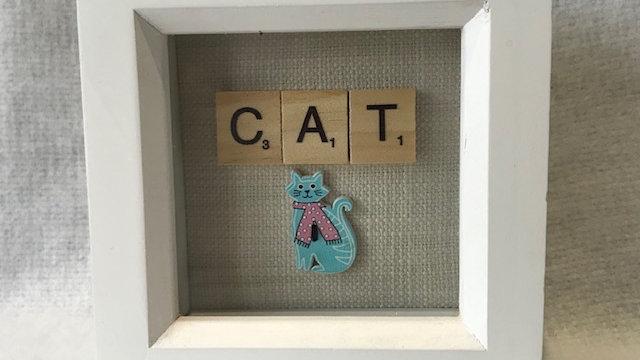 Cat, 10cm sq