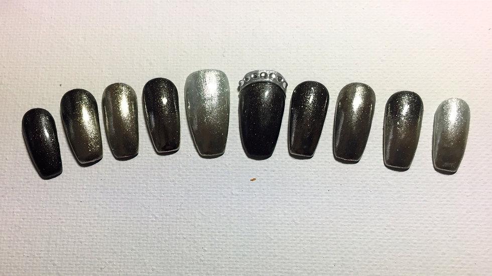 6, black and chrome