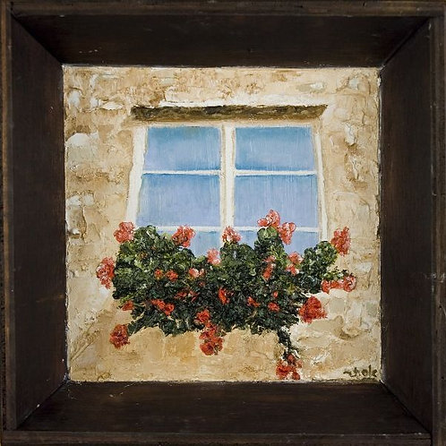 Flower Painting - Window of Opportunity