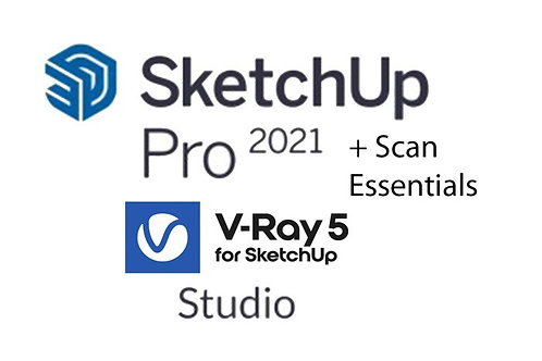 SketchUp Studio Annual Subscription - Includes Vray 5 and Scan Essentials
