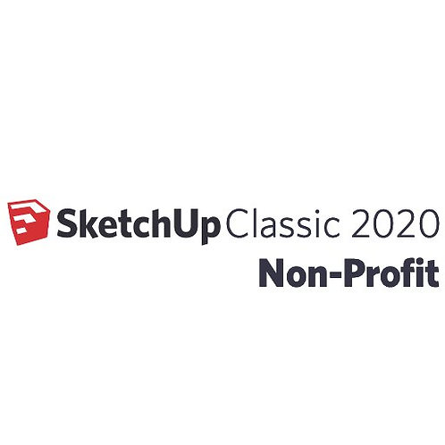 SketchUp Pro 2020 Non-Profit One Year Licence Single Licence (For Charities)