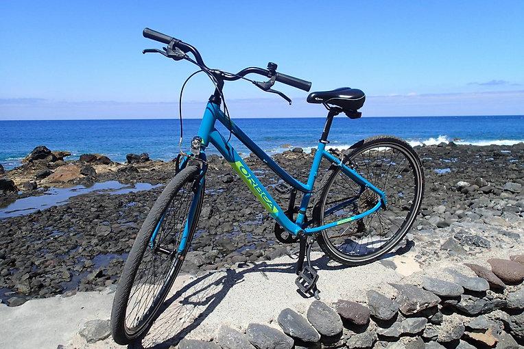 ein fahrrad mit meer im hintergrund