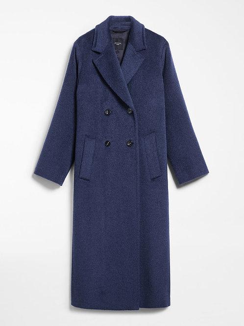 Abrigo de lana azul