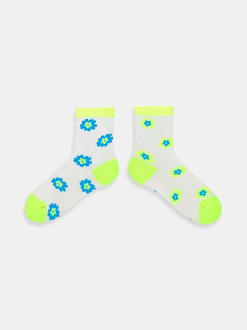 Calcetines estampados fluor