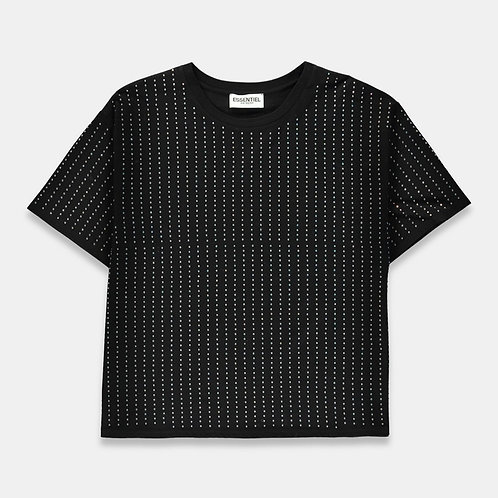 Camiseta negra diamantes