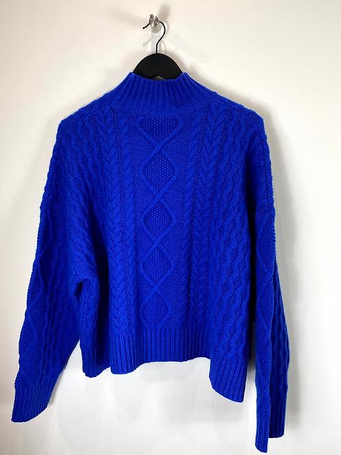 Jerséy de lana azul