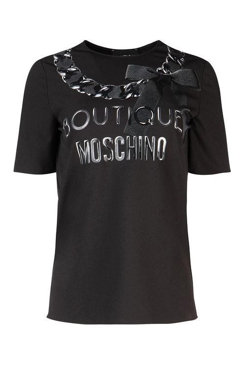 Camiseta negra logo Moschino