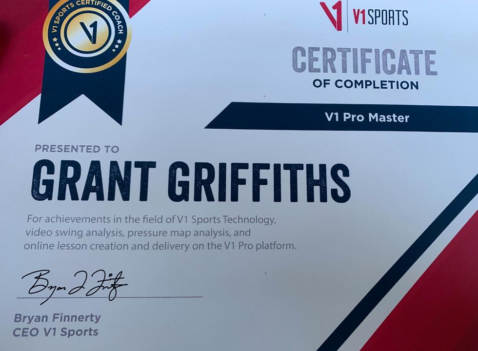 Grant Griffiths Certified Master V1 Pro - Jake Thurm