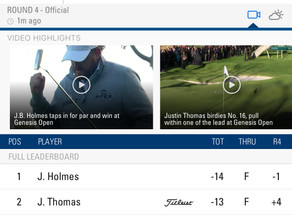 Well done J.B Holmes