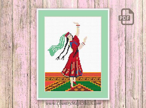 Vintage Cross Stitch Pattern #oth001