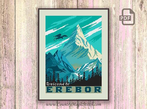 Welcome to Erebor Cross Stitch Pattern #tv001