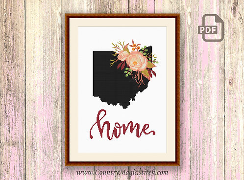 Ohio Cross Stitch Pattern #mp005