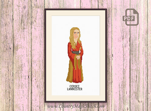 Cersei Lannister Cross Stitch Pattern #got011